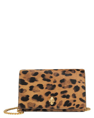 Mini Skull Leopard Calf Hair Crossbody, BROWN/LEOPARD, hi-res