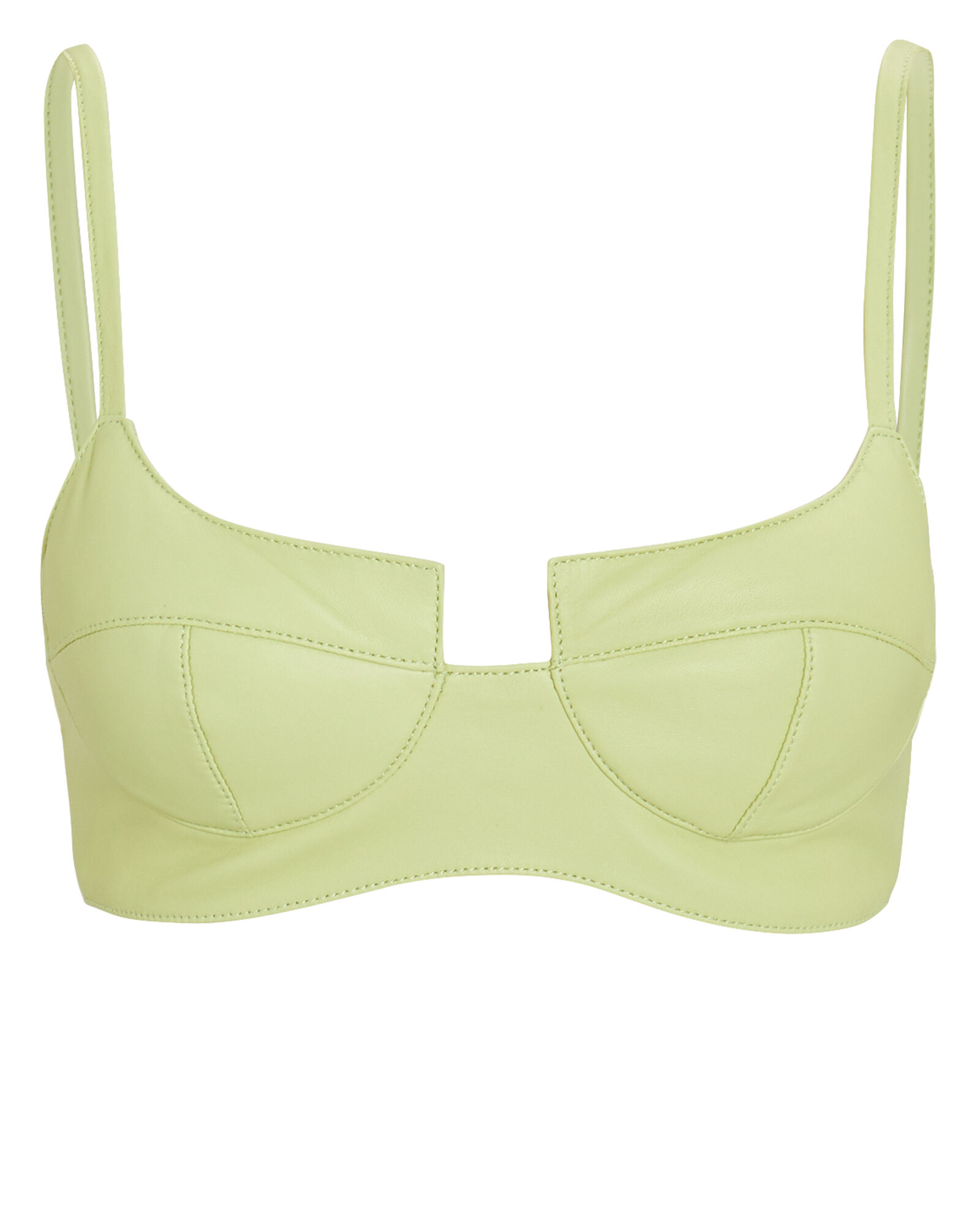 The Shoreditch Leather Bralette, , hi-res