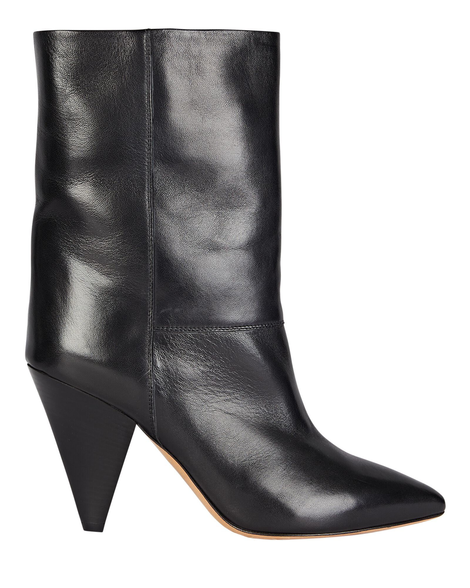 Locky Leather Ankle Boots, BLACK, hi-res