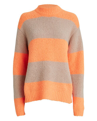 Cozette Alpaca & Wool Sweater, ORANGE/STRIPE, hi-res