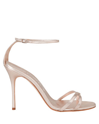 Paloma Leather Stiletto Sandals, ROSE, hi-res