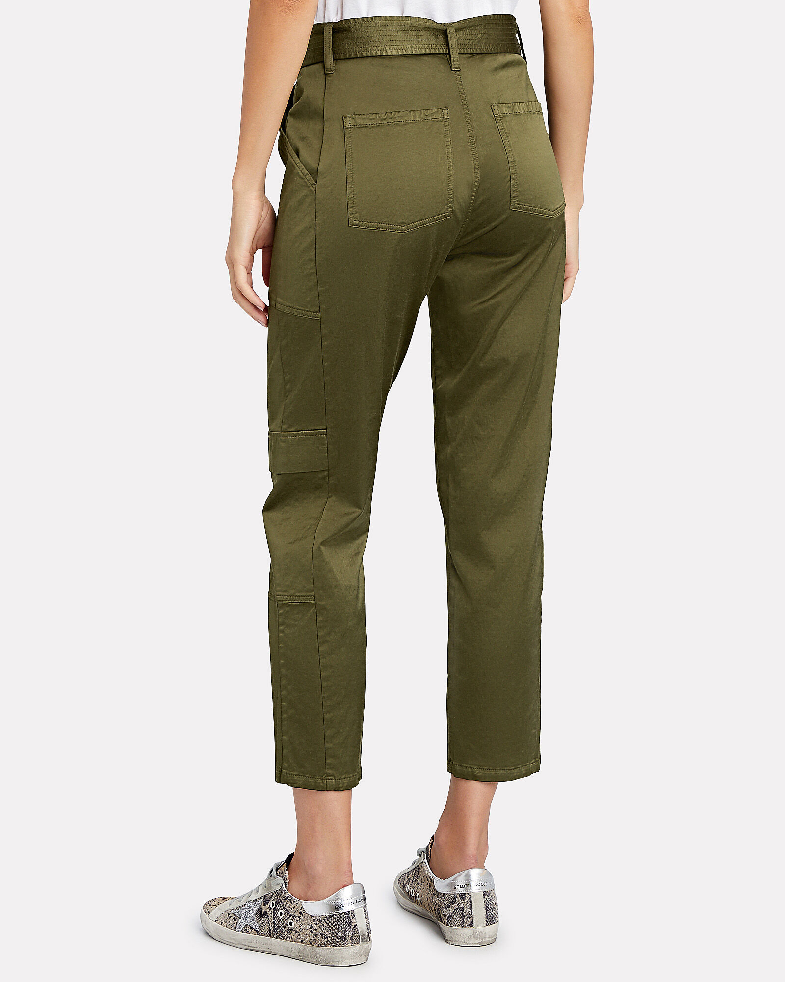 Athena Surplus Cropped Pants, OLIVE/ARMY, hi-res