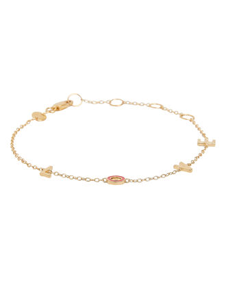 "Emerson ""LOVE"" Station Bracelet, GOLD, hi-res"