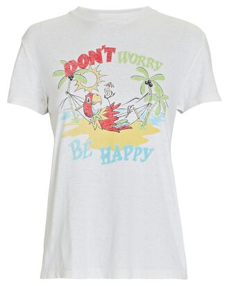 70s Loose Be Happy T-Shirt, IVORY, hi-res