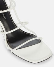 Strappy Leather High Heel Sandals, WHITE, hi-res