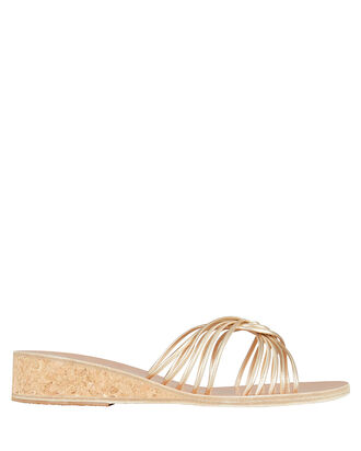 Xanthi Metallic Wedge Sandals, GOLD/METALLIC, hi-res