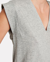 Le High Rise V-Neck Cotton T-Shirt, GREY, hi-res