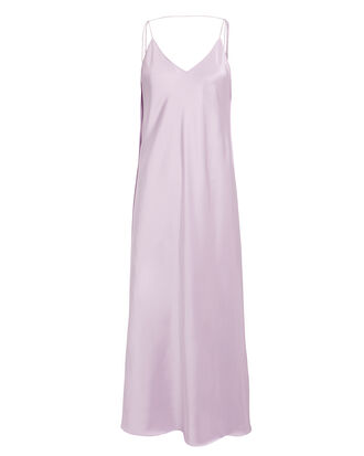 Silk Slip Dress, LILAC, hi-res