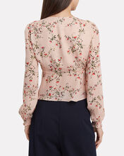 Chiara Printed Top, PINK, hi-res