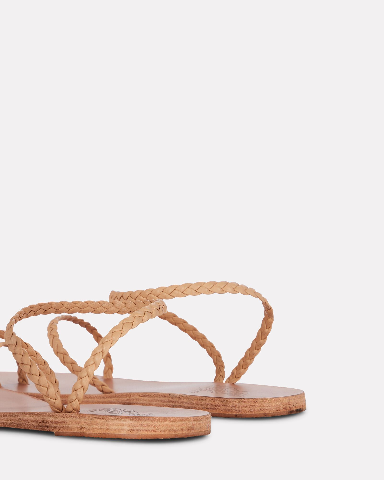 Eleftheria Braided Leather Sandals, BEIGE, hi-res