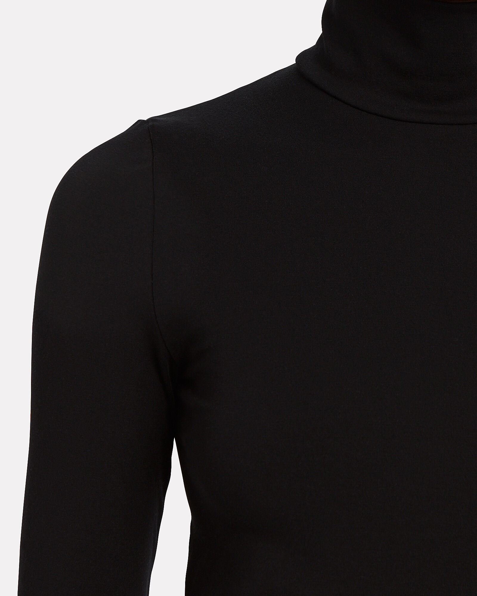 Aurora Jersey Turtleneck Dress, BLACK, hi-res