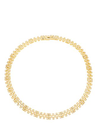 Candy Crystal Collar Necklace, GOLD, hi-res