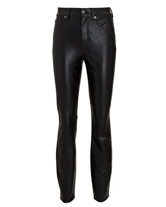 Debbie Vegan Leather Skinny Pants, BLACK, hi-res