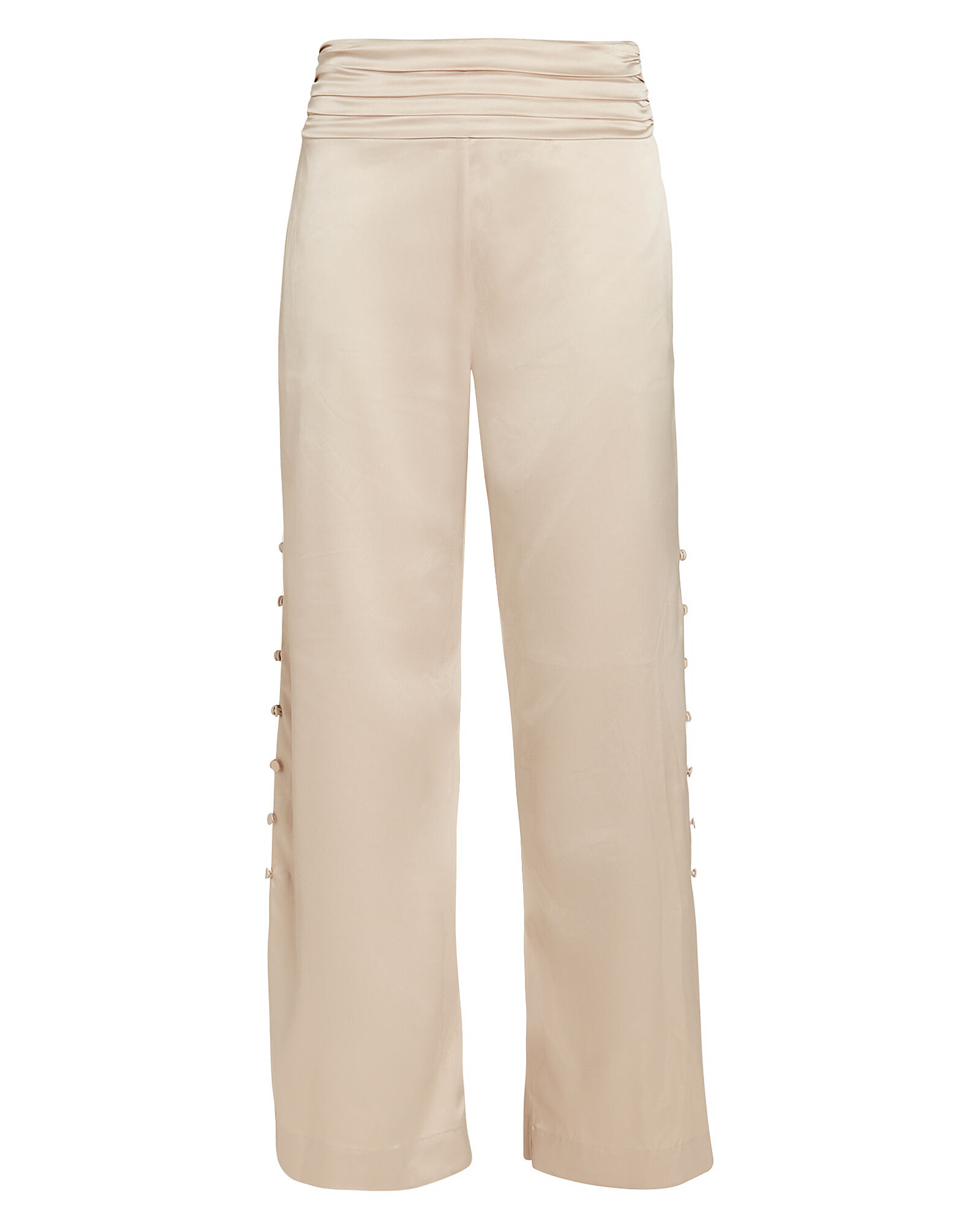 Fluid Satin Wide Leg Trousers, CHAMPAGNE, hi-res