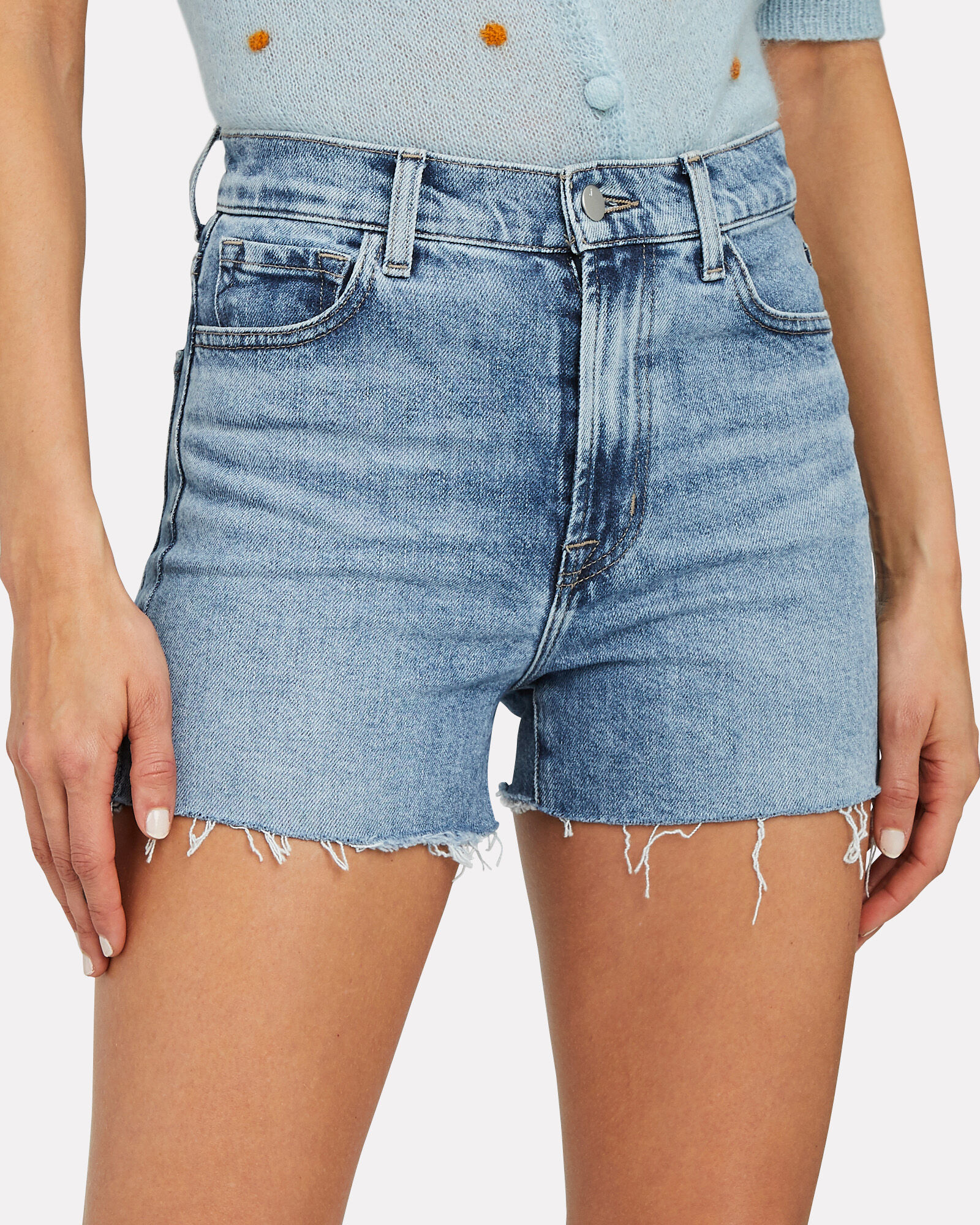 Jules Denim Shorts, MEDIUM WASH DENIM, hi-res