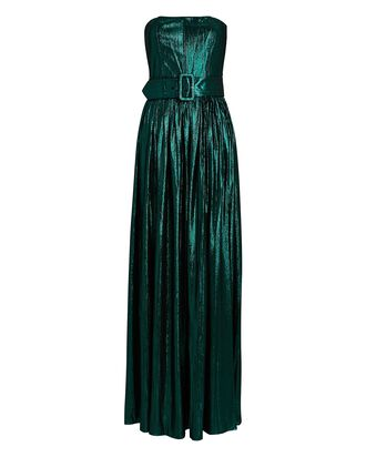 Jaden Strapless Lamé Gown, GREEN, hi-res