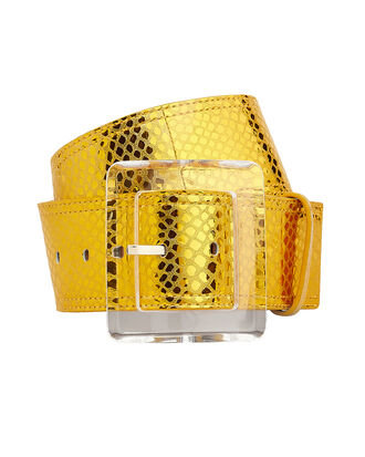 Corin Yellow Metallic Belt, YELLOW, hi-res