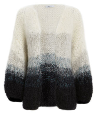 Gradient Big Cardigan, GREY/BLACK, hi-res