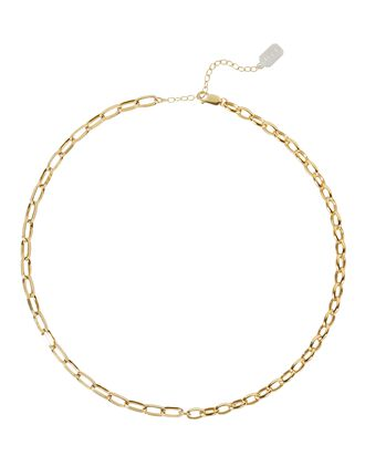 Mismatch Chain-Link Necklace, GOLD, hi-res