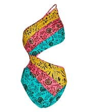 Lulu Cut-Out One-Piece Swimsuit, BLUE/YELLOW/PINK, hi-res