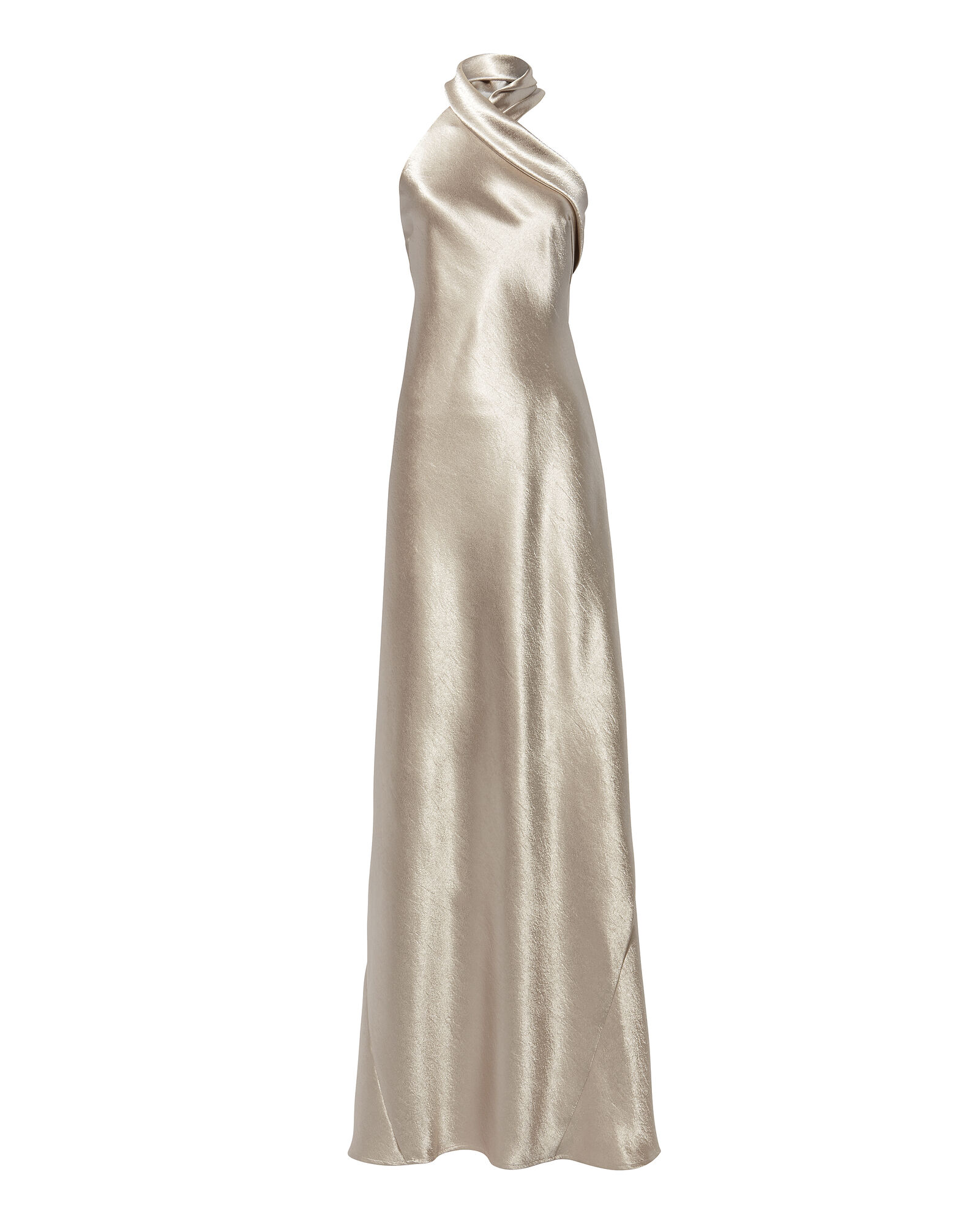 Asymmetric Bias Cut Dress, SILVER, hi-res