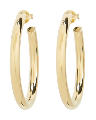 Lou Medium Hoops, GOLD, hi-res