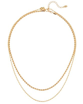 Aperol Spritz Layered Necklaces, GOLD, hi-res
