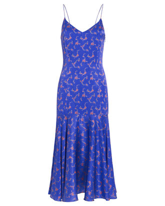 Kai Satin Slip Dress, BLUE/FLORAL, hi-res