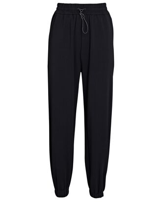Nevada Tapered Cotton Joggers, BLACK, hi-res