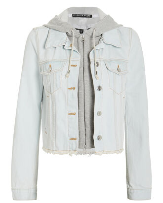 Cara Hooded Denim Jacket, DENIM-LT, hi-res