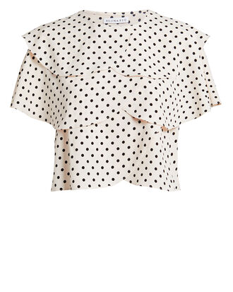 Jude Polka Dot Blouse, BLACK/WHITE, hi-res