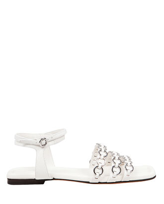 Alyse Ring Strap Sandals, WHITE, hi-res