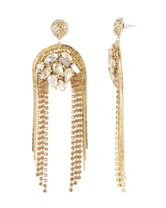 Kylee Crystal Drop Earrings, GOLD, hi-res