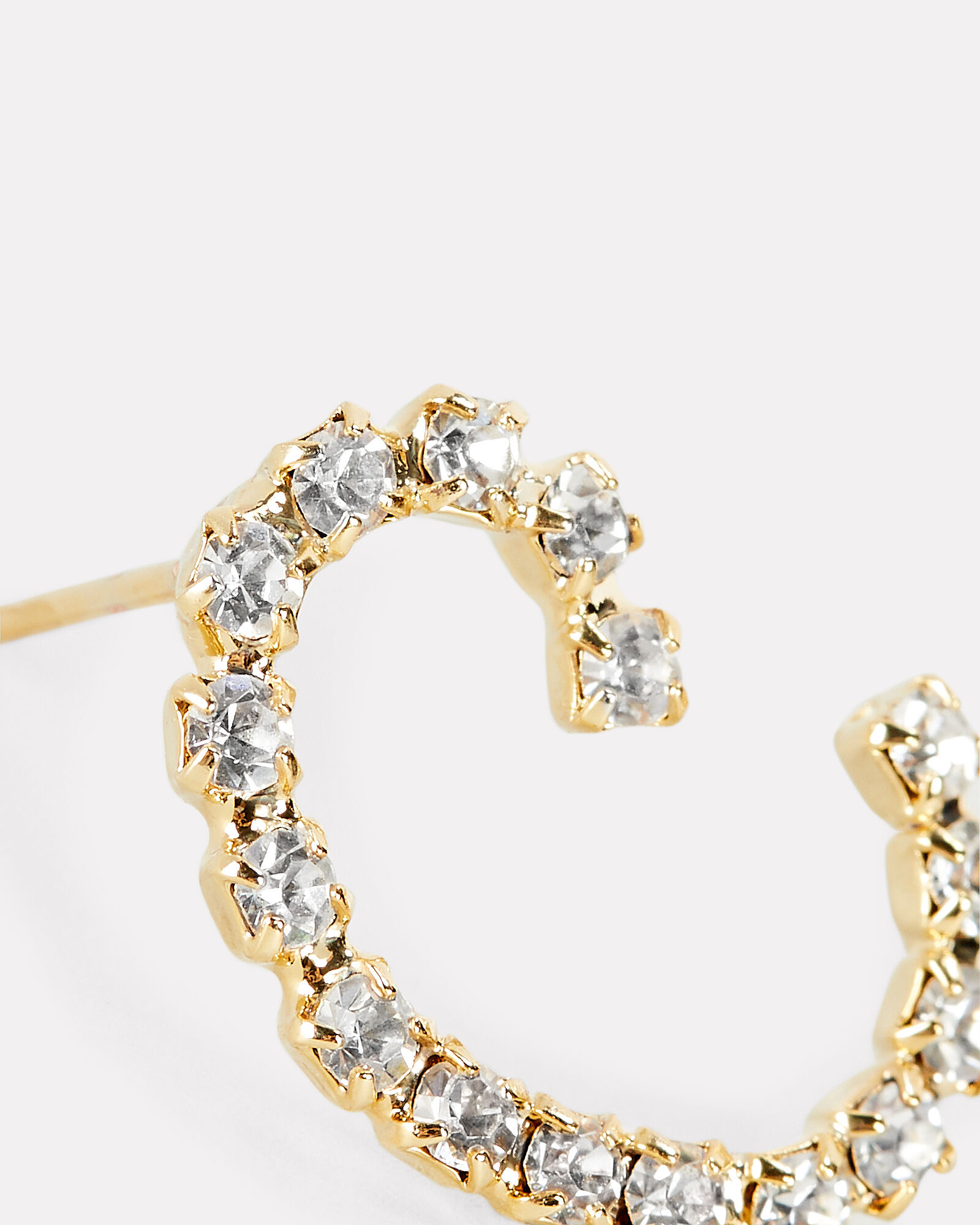 C Lettere Crystal Initial Earring, GOLD, hi-res