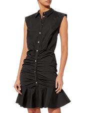 Core Bell Ruched Dress, BLACK, hi-res