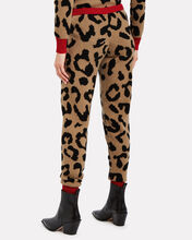 Notus Cashmere-Wool Lounge Pants, BROWN/LEOPARD, hi-res
