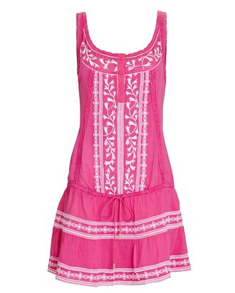 Jaz Embroidered Sleeveless Mini Dress, MULTI, hi-res