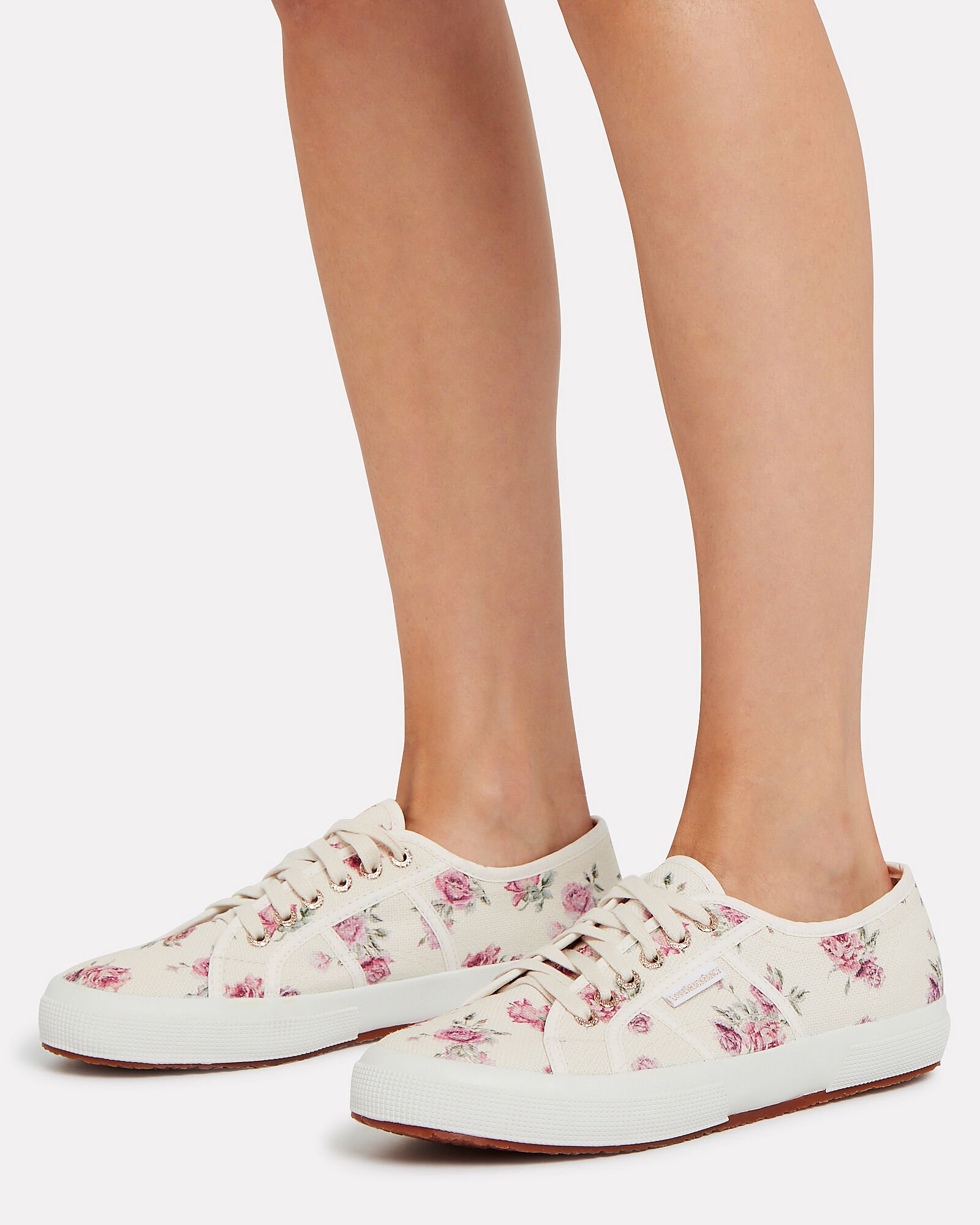 Superga x LoveShackFancy Provence Floral Sneakers, WHITE, hi-res