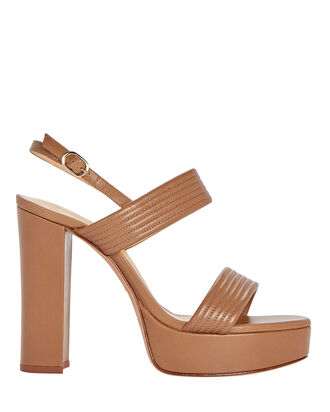 Veronica 120 Plateau Sandals, BROWN, hi-res