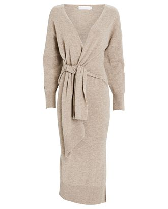 Skyla Knit Midi Dress, BEIGE, hi-res