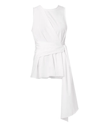 Twist Front Tank, WHITE, hi-res