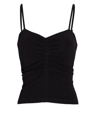 Halley Ruched Jersey Camisole, BLACK, hi-res