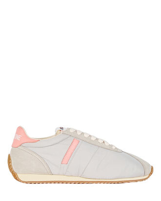 70s Leather Tennis Sneakers, GREY, hi-res