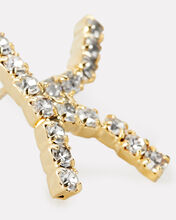 K Lettere Crystal Initial Earring, GOLD, hi-res