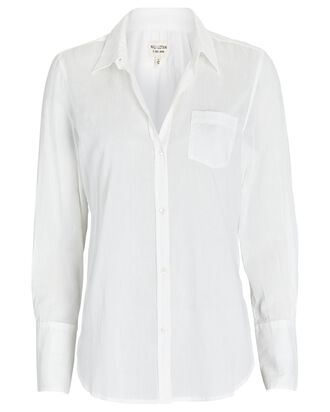 NL Voile Button-Down Shirt, IVORY, hi-res