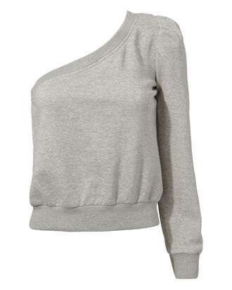 Crane One Shoulder Sweatshirt, GREY-LT, hi-res