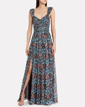 Evianna Silk Georgette Floral Gown, MULTI, hi-res
