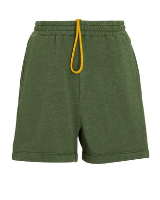 Shayne Fleece Sweat Shorts, OLIVE, hi-res