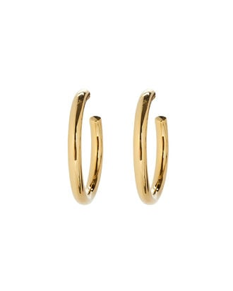 Vermeil Hoop Earrings, GOLD, hi-res