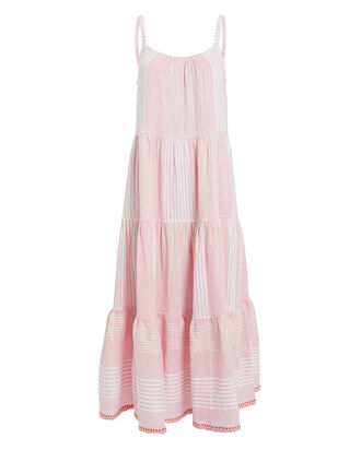 Rekik Cascade Cotton Dress, PINK, hi-res